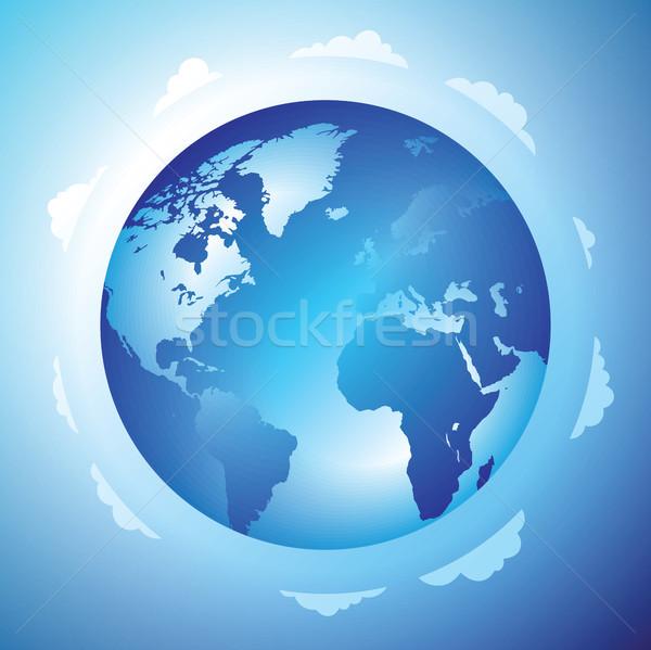 мира облака земле синий путешествия цвета Сток-фото © ildogesto