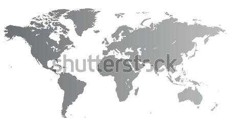 Silver World map Stock photo © ildogesto