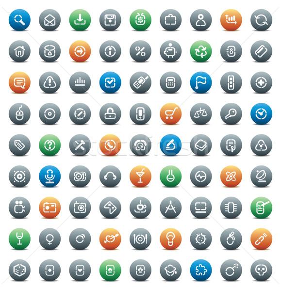 ステンシル ボタン コンピュータ ビジネス ショッピング 科学 ストックフォト © ildogesto