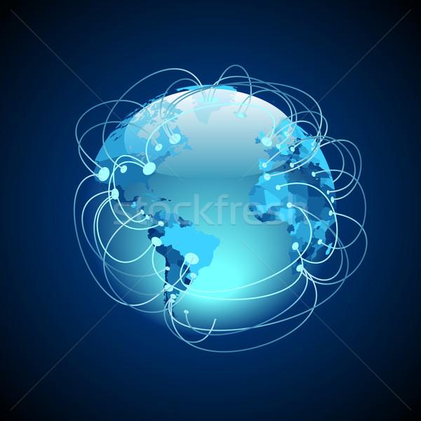 Világszerte kapcsolatok internet földgömb technológia Föld Stock fotó © ildogesto