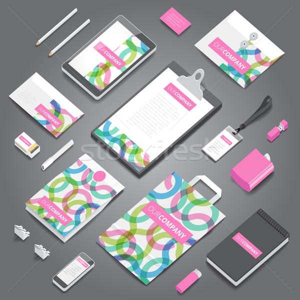 Entreprise identité imprimer modèle papeterie objets Photo stock © ildogesto