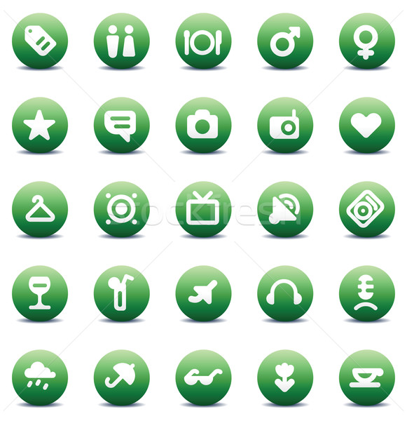 icons for travel and leisure Stock photo © ildogesto