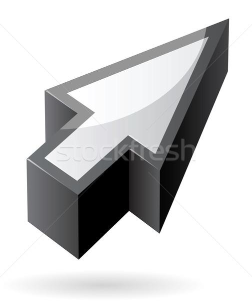 Stockfoto: Isometrische · icon · cursor · computer · ontwerp · object