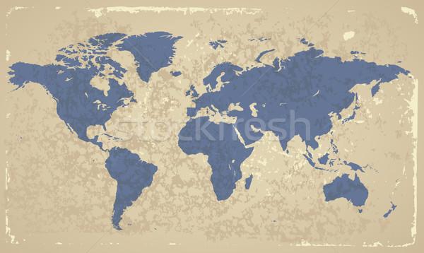 Retro-styled World map Stock photo © ildogesto