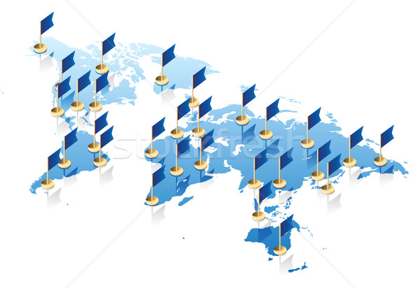 Mappa del mondo bandiere concetto mappa abstract design Foto d'archivio © ildogesto