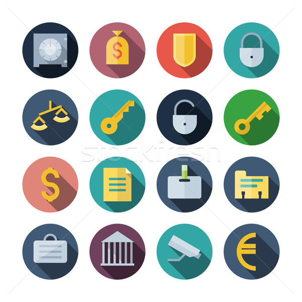 Flat Design Icons For Business Stock photo © ildogesto