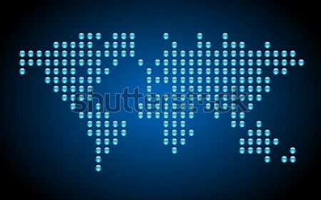 Noktalı dünya haritası mavi star dünya Stok fotoğraf © ildogesto