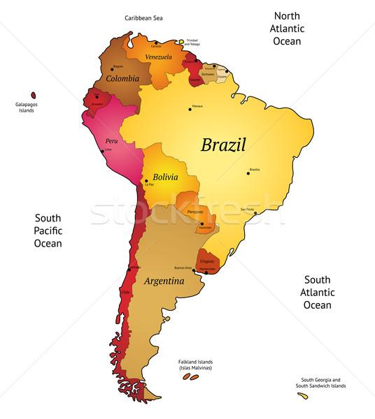 Pokaż ameryka Łacińska świat ziemi pomarańczowy czerwony Zdjęcia stock © ildogesto