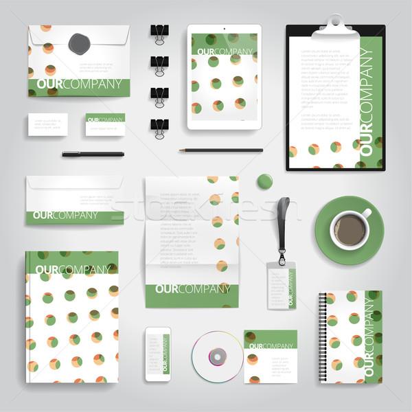 ストックフォト: 企業 · アイデンティティ · 印刷 · テンプレート · 文房具 · オブジェクト