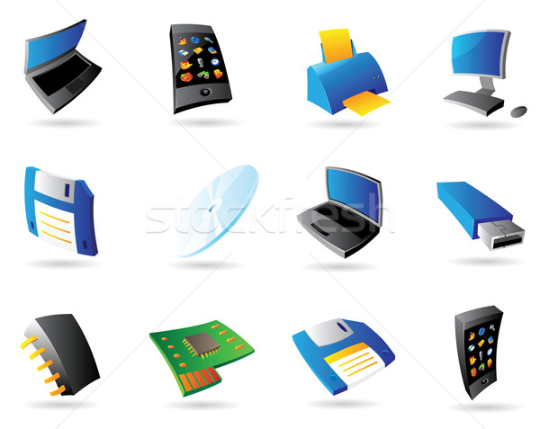 Icons for computer and devices Stock photo © ildogesto