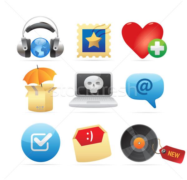 Icons for concepts Stock photo © ildogesto