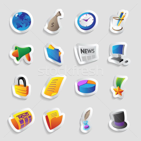 Icons for business Stock photo © ildogesto