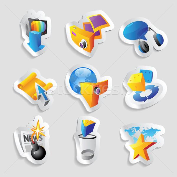 Icons for leisure Stock photo © ildogesto