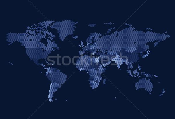 пунктирный Мир карта мира карта Мир фон Сток-фото © ildogesto
