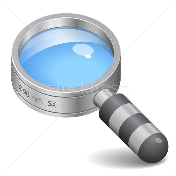 Ikon nagyító fehér terv grafikus tárgy Stock fotó © ildogesto