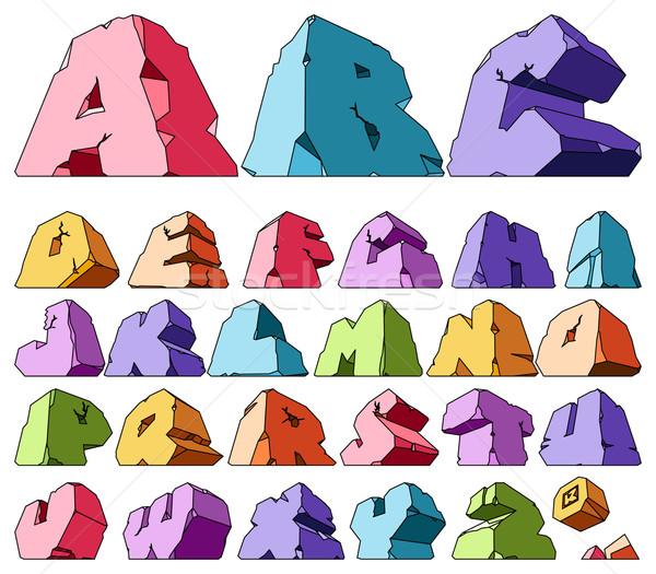 Alfabeto cartas criança assinar escrita Foto stock © ildogesto