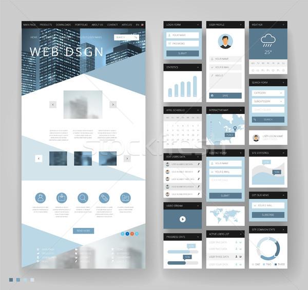 Site modelo projeto interface elementos negócio Foto stock © ildogesto