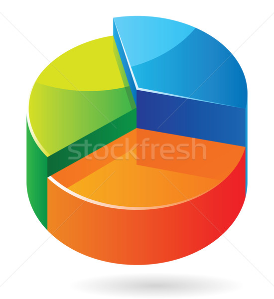 Isometric icon graph Stock photo © ildogesto