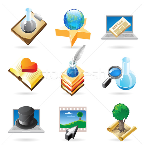 Icon concepts for knowledge Stock photo © ildogesto