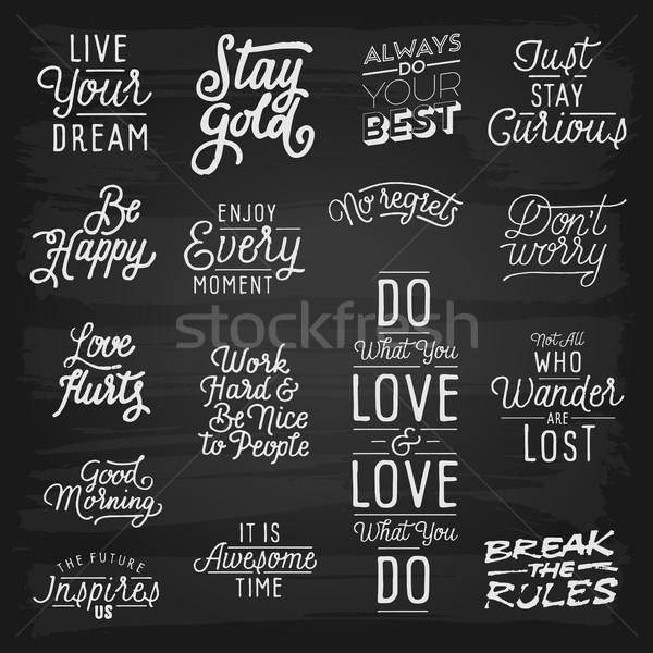 Dessinés à la main texture école design tableau noir bord Photo stock © ildogesto