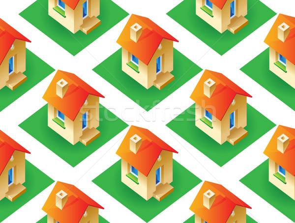 Házak fű ház textúra háttér zöld Stock fotó © ildogesto