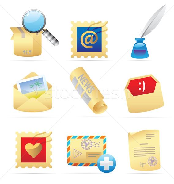 Icons for postal services Stock photo © ildogesto