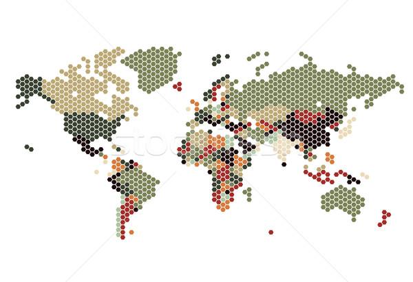 Punteggiata mappa del mondo mondo mappa mondo sfondo Foto d'archivio © ildogesto
