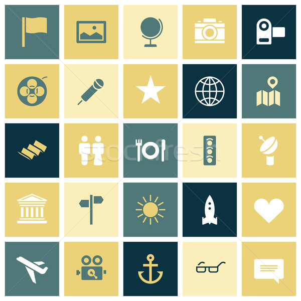 Flat design icons for travel and leisure Stock photo © ildogesto