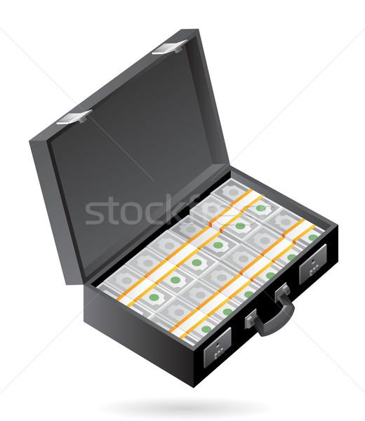 Isométrique icône cas argent serviette affaires Photo stock © ildogesto