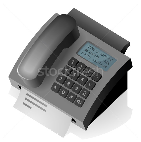 Stockfoto: Telefoon · fax · papier · mail · communicatie · document