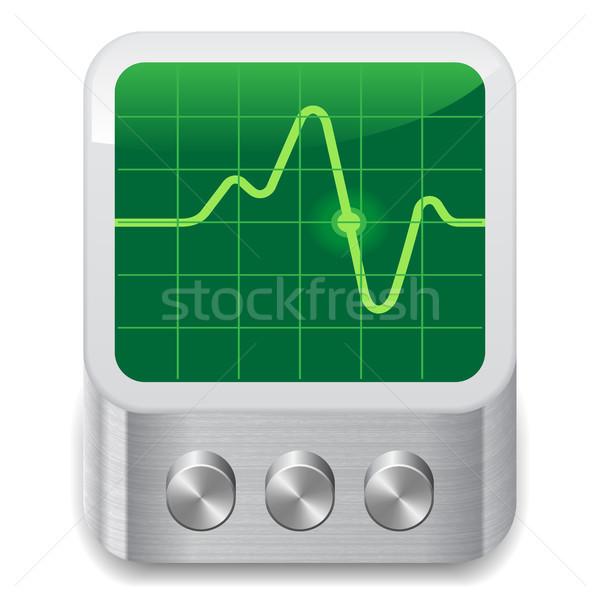 Icon for oscilloscope Stock photo © ildogesto