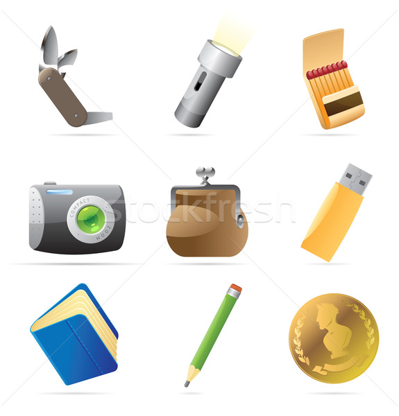 Icons for personal belongings Stock photo © ildogesto