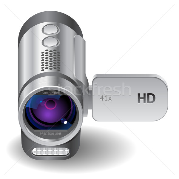 Stock photo: Icon for camcorder