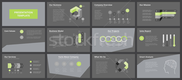 Business presentation templates Stock photo © ildogesto