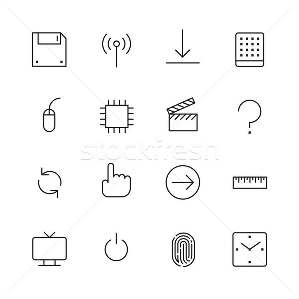 Cienki line ikona interfejs wektora eps10 Zdjęcia stock © ildogesto