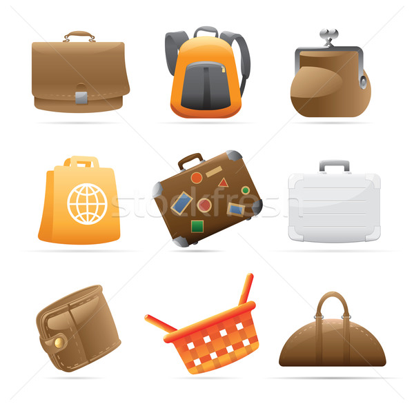 Icons for bags Stock photo © ildogesto