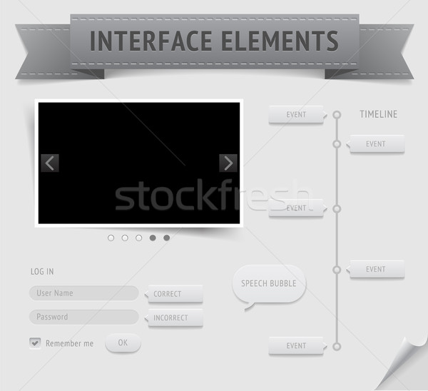 Utilisateur interface vecteur eps10 fichier Photo stock © ildogesto