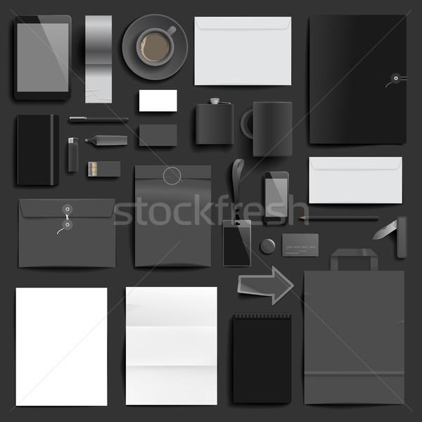 企業 アイデンティティ テンプレート 暗い 層 印刷 ストックフォト © ildogesto