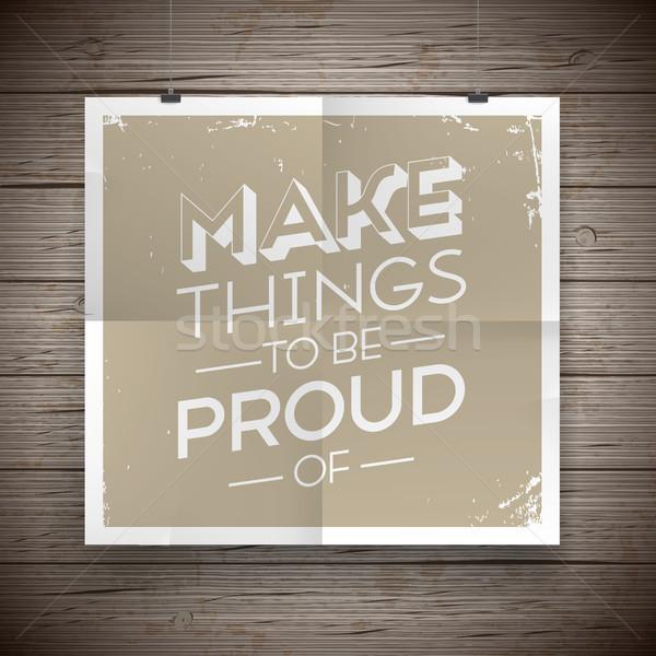 Cartaz slogan vintage textura parede Foto stock © ildogesto