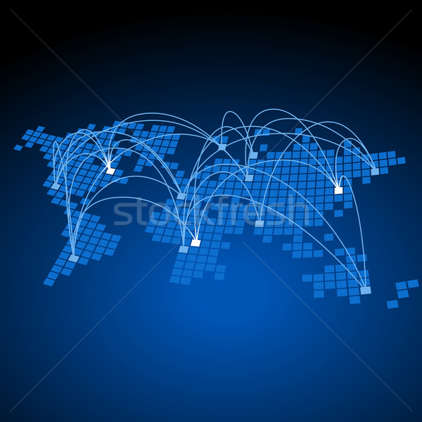 Monde concept mondial affaires technologie Photo stock © ildogesto