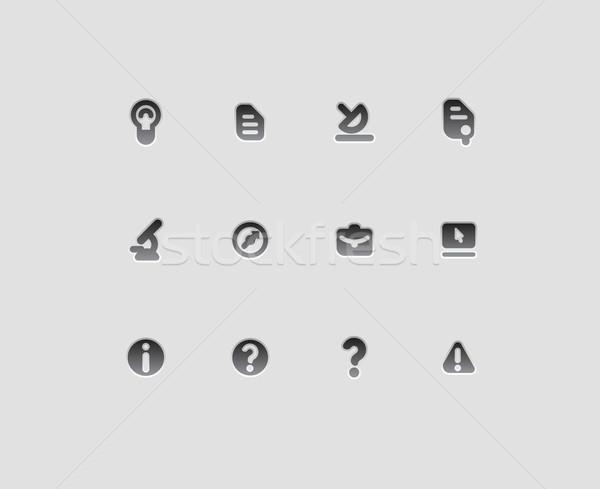 Stockfoto: Iconen · onderwijs · wetenschap · technologie · laptop · kompas