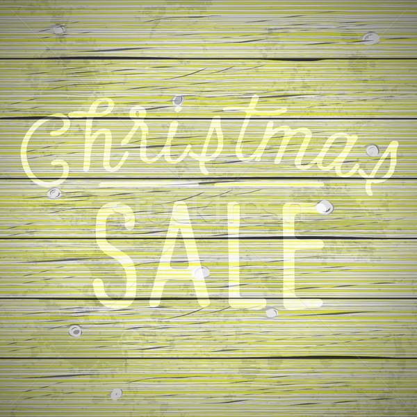 ヴィンテージ スローガン クリスマス 素朴な 木材 ストックフォト © ildogesto