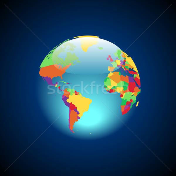 Mondo multicolore paesi mondo terra verde Foto d'archivio © ildogesto
