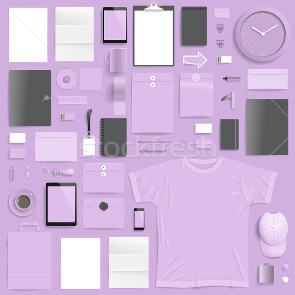 корпоративного личности шаблон свет Purple слой Сток-фото © ildogesto