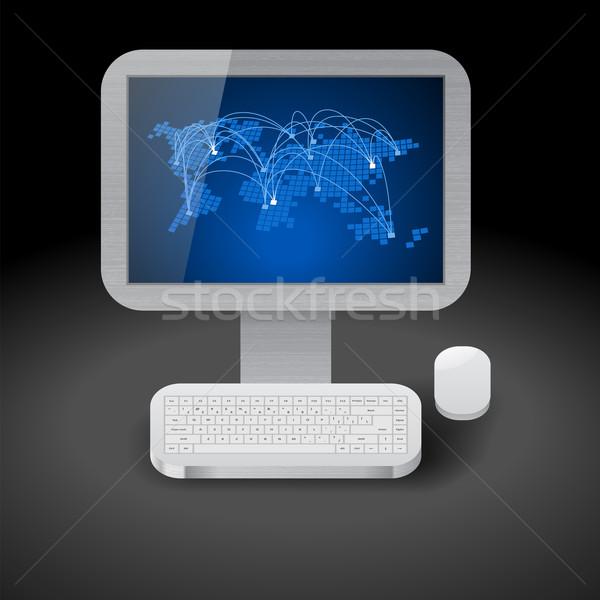 Icon for personal computer Stock photo © ildogesto