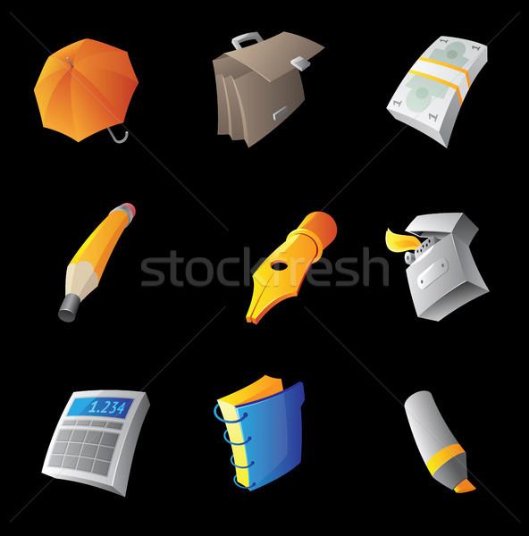 Icons for personal belongings Stock photo © ildogesto