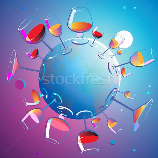 Wines planet Stock photo © ildogesto