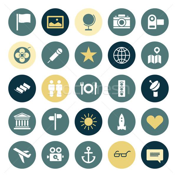 Flat design icons for travel and leisure Stock photo © ildogesto
