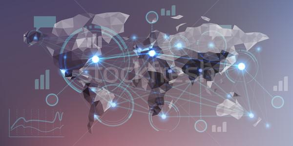 Stock fotó: Futurisztikus · infografika · elemek · felhasználó · interfész · földgömb