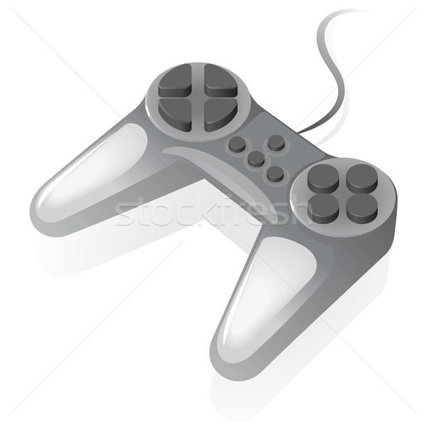 изометрический икона геймпад серый Видеоигры дизайна Сток-фото © ildogesto